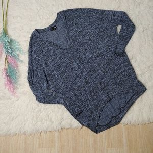 Aritzia Wilfred Free Blue Marled Dolman Knit Top